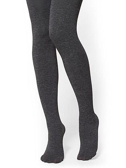 Fleece-Lined Opaque Tights - New York & Company