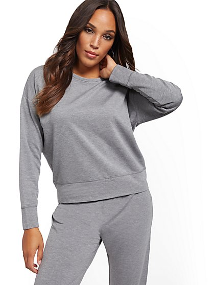 Fleece-Lined Sweatshirt - Soho Street - New York & Company
