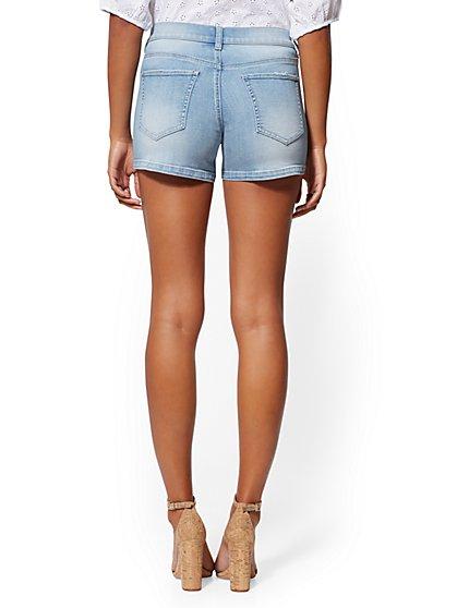 54050c1faa ... Floral 4 Inch Short - Indigo Blue - Soho Jeans - New York & Company