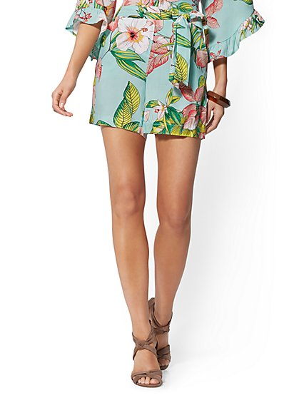 Floral 6 Inch Madie Short - 7th Avenue - New York & Company