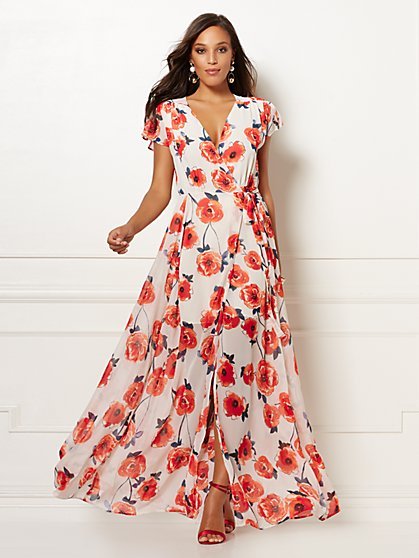 Floral Allison Maxi Dress - Eva Mendes Collection - New York & Company