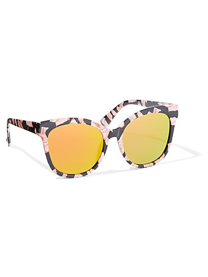 Floral Cat-Eye Sunglasses - New York & Company