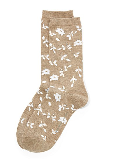 Floral Crew Sock - New York & Company