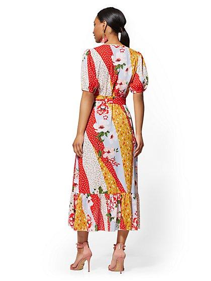 99231c3a5c36 ... Floral & Dot-Print Wrap Maxi Dress - New York ...