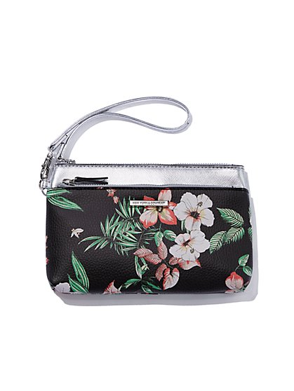 Floral Double-Zip Wristlet - New York & Company