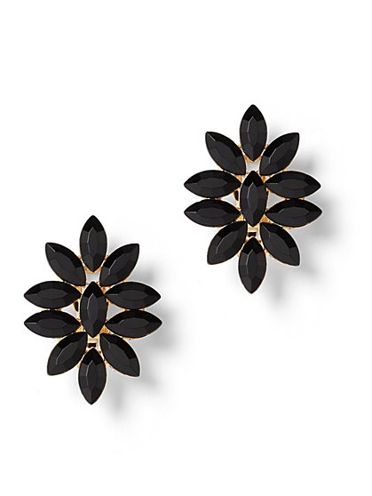 Floral Faux-Stone Post Earring - New York & Company