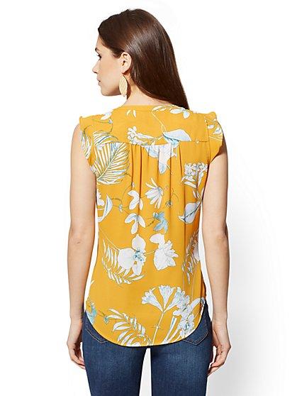 4f01f40f994 ... Floral Flutter-Sleeve Blouse - Soho Soft Shirt - New York   Company