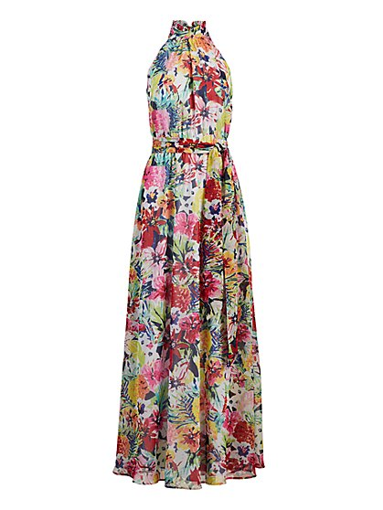 Floral Halter Maxi Dress - New York & Company