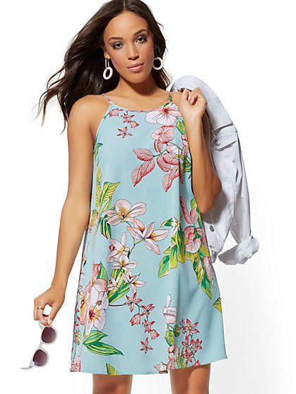 c8277e79e45 Floral Halter Swing Dress - New York   Company ...