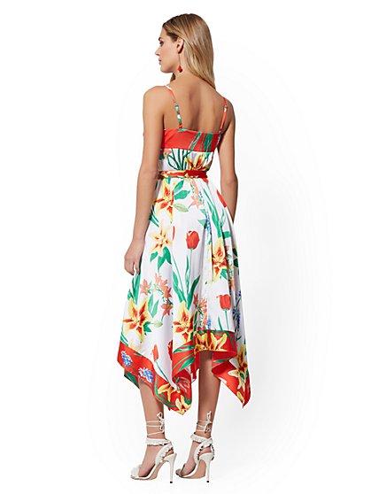 0fb5d2d3b2f ... Floral Handkerchief-Hem Midi Sundress - 7th Avenue - New York   Company  ...