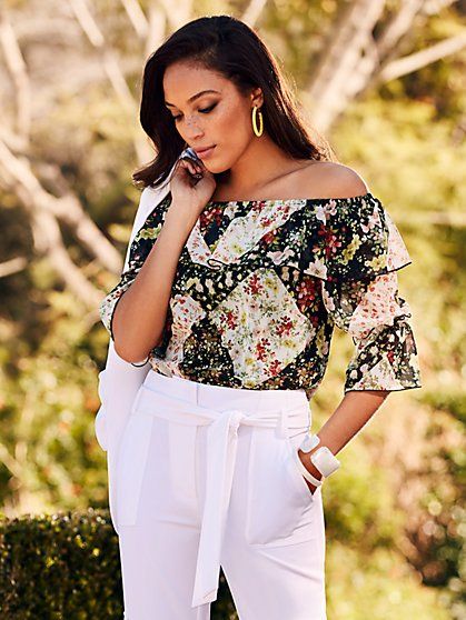 Floral Off-The-Shoulder Blouse - Sweet Pea - New York   Company ... b94b9368f