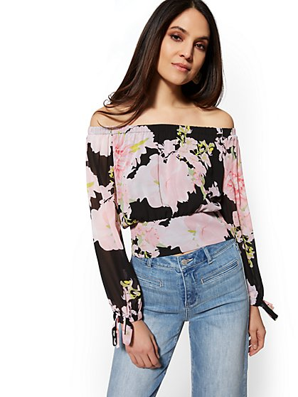 Floral Off-The-Shoulder Blouse - New York & Company