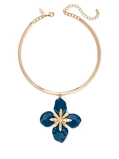 Floral Pendant Collar Necklace - New York & Company