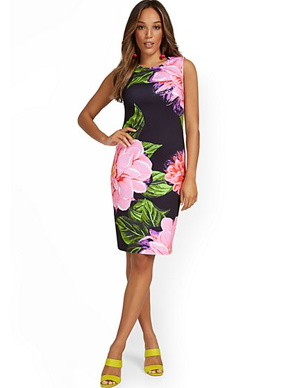 Floral-Print Sheath Dress - New York & Company