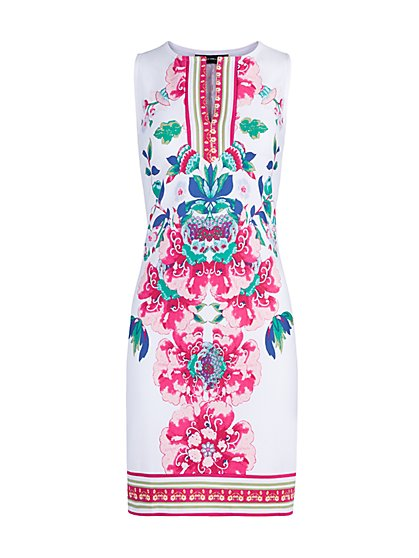 Floral Print Shift Dress - New York & Company