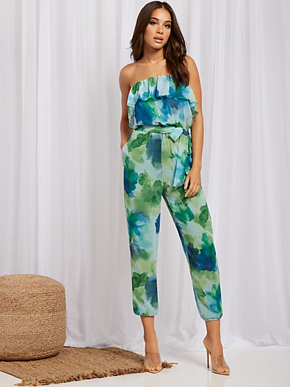 Floral-Print Strapless Jumpsuit - Sweet Pea - New York & Company