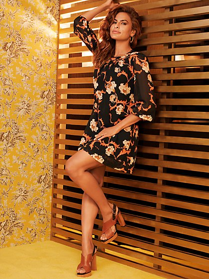 Floral Sabrina Dress - Eva Mendes Collection - New York & Company