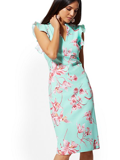 Floral Sheath Dress - 7th Avenue - New York & Company