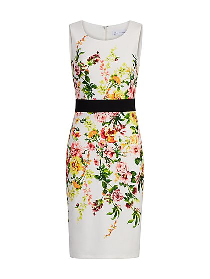 Floral Sheath Dress - Magic Crepe® - New York & Company