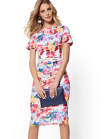 80ce83081af0 Floral Sheath Dress - New York   Company ...