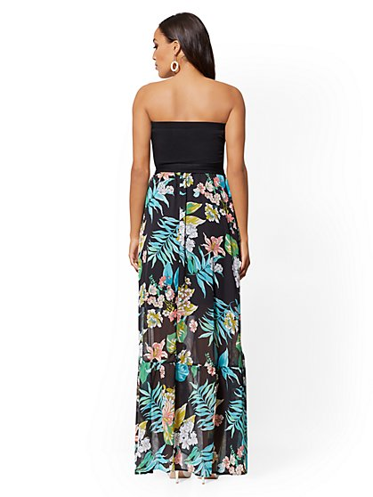662db51c261 ... Floral Strapless Maxi Dress - New York   Company ...
