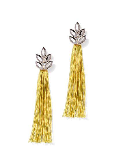 Floral Tassel Drop Earrings - New York & Company