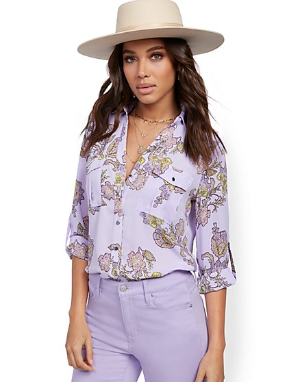 Floral Utility Shirt - New York & Company