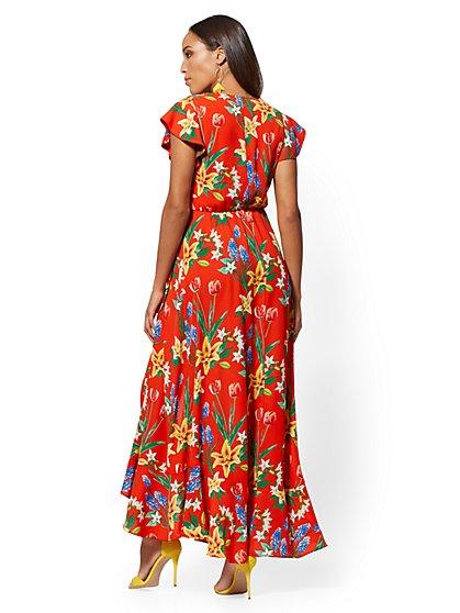 4856bb18abf28 ... Floral Wrap Maxi Dress - New York   Company ...