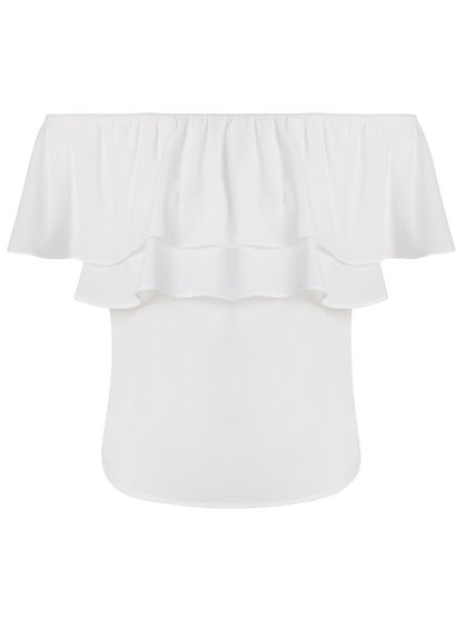 Flounced Off-The-Shoulder Top - 7th Avenue - New York & Company