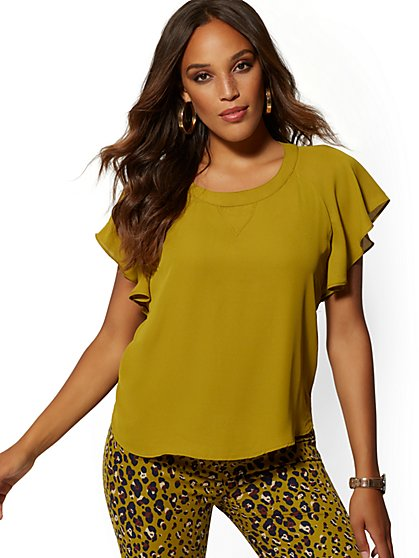 Flutter-Sleeve Blouse - 7th Avenue - New York & Company