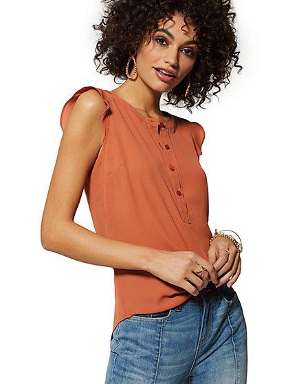 56dda9d0760 Flutter-Sleeve Blouse - Soho Soft Shirt - New York   Company ...