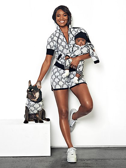 French Bulldog Hooded Sweater - Gabrielle Union Collection - New York & Company