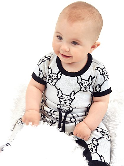 French Bulldog-Print Onesie - Kaavi James Collection - New York & Company