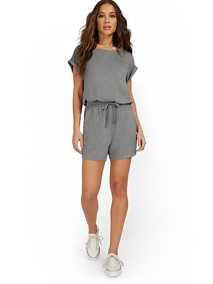 French Terry T-Shirt Romper - New York & Company