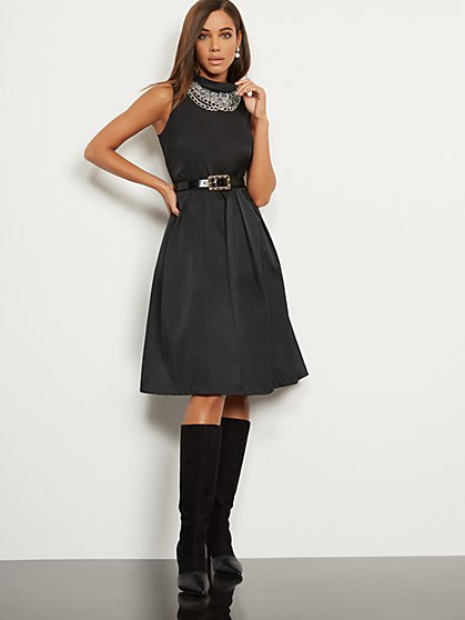 Freya Taffeta Dress - Eva Mendes Party Collection - New York & Company