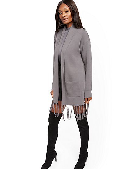 Fringe Duster Cardigan - New York & Company