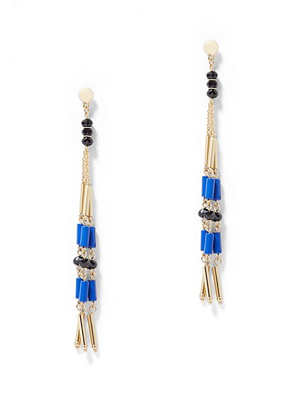 Fringe Linear Drop Earring - New York & Company