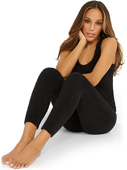 Fuzzy Drawstring Jogger Pant - Ultra Cozy Collection - New York & Company