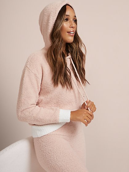 Fuzzy Hoodie - Ultra Cozy Collection - New York & Company