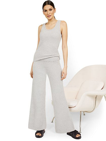 Fuzzy Wide-Leg Pant - Ultra Cozy Collection - New York & Company