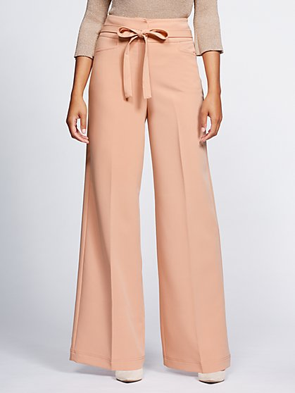 Gabrielle Union Collection - Belted Palazzo Pant - New York & Company