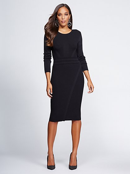 Gabrielle Union Collection - Black Sweater Dress - New York & Company