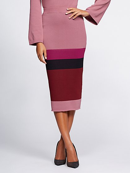 Gabrielle Union Collection - Colorblock Sweater Skirt - New York & Company