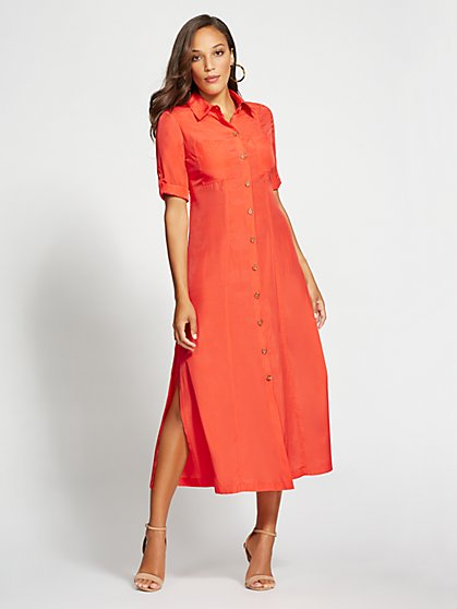 Gabrielle Union Collection - Coral Maxi Shirtdress - New York & Company