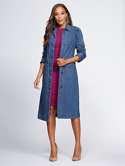 Gabrielle Union Collection - Denim Duster Jacket - New York & Company