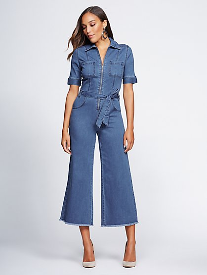 d56bc3623d26 NY C  Denim Jumpsuit - Gabrielle Union Collection