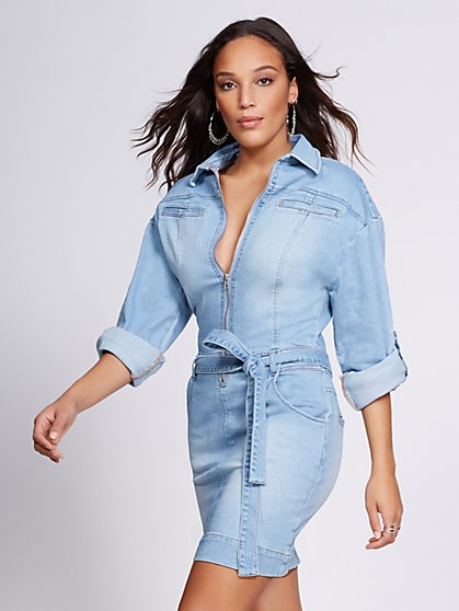 Gabrielle Union Collection - Denim Shirtdress - New York & Company