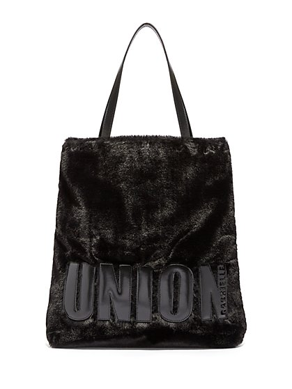 Gabrielle Union Collection Faux Fur Tote Bag New York Company