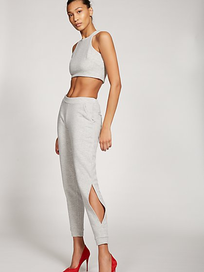 Gabrielle Union Collection - Grey Open-Slit Jogger Pant - New York & Company