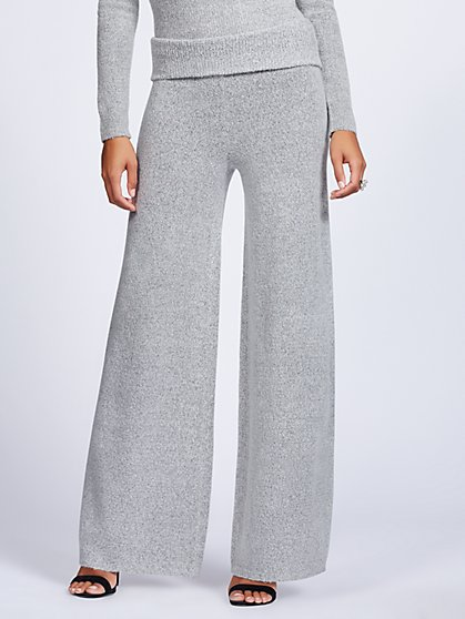 Gabrielle Union Collection - Grey Sweater Palazzo Pant - New York & Company